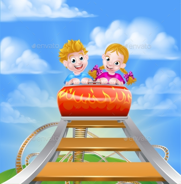 Roller Coaster Fair Theme Park - Landscapes Nature