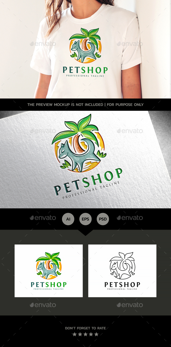 Pet Shop - Animals Logo Templates