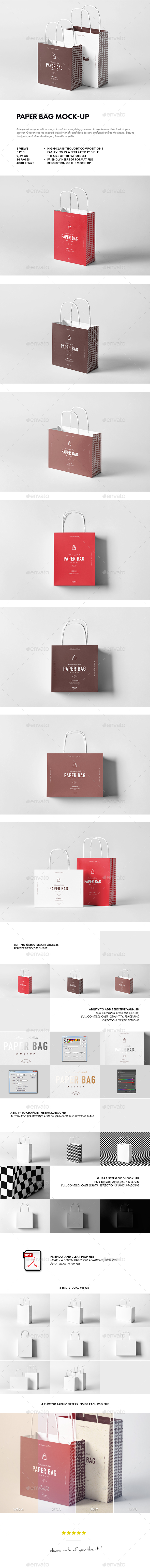 Paper Bag Mock-up - Miscellaneous Packaging