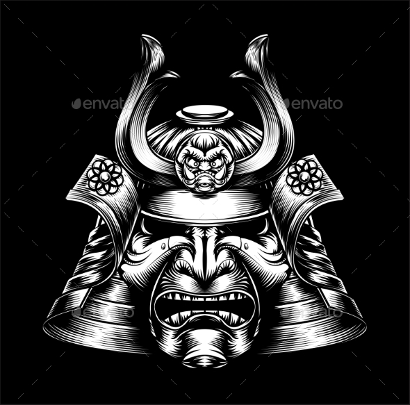 Japanese Samurai Mask - Miscellaneous Vectors