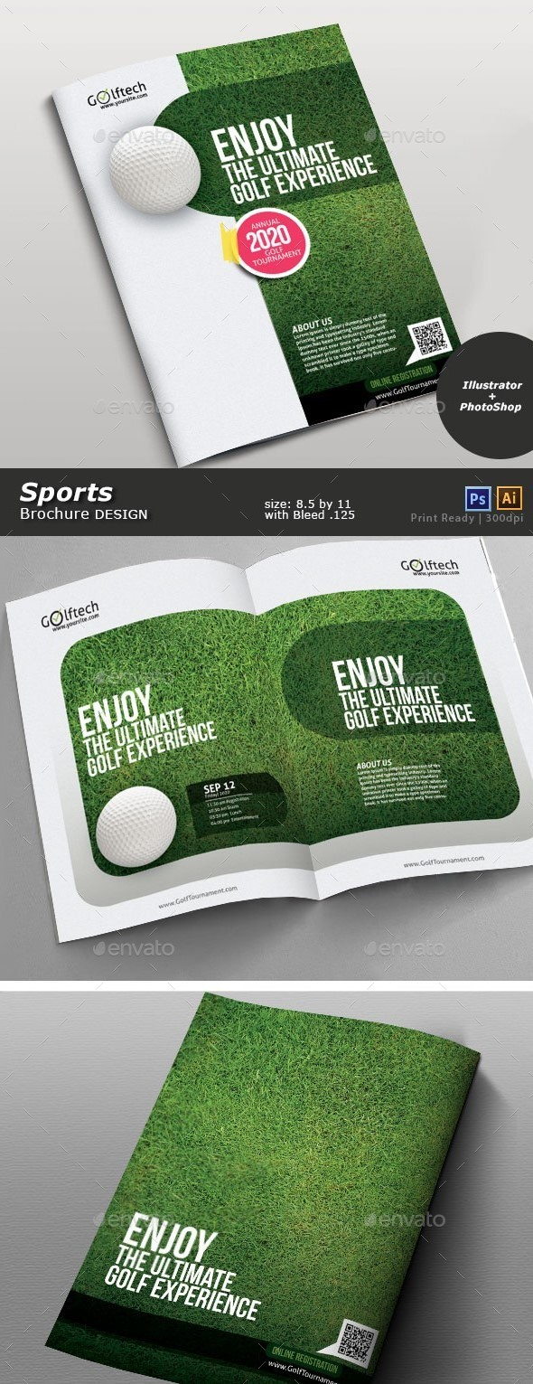 Golf Tournament Brochure - Brochures Print Templates