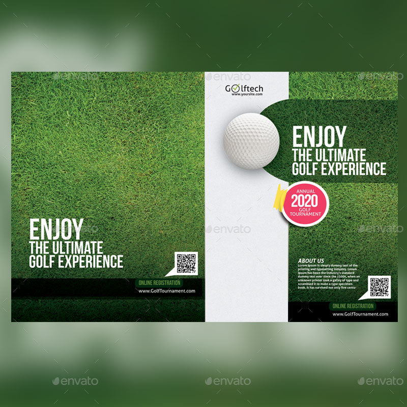 Golf Tournament Brochure By Designcrew | Graphicriver