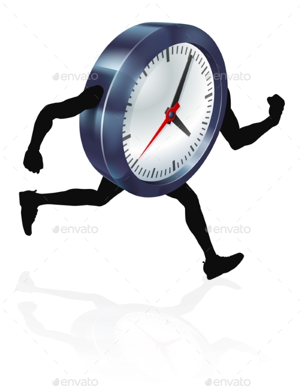Running Time Concept Clock - Sports/Activity Conceptual