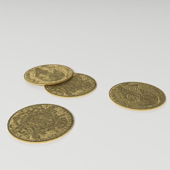 Gold Coins - 3DOcean Item for Sale