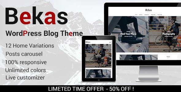 Bekas – Responsive WordPress Blog Theme with 12 Home Layouts