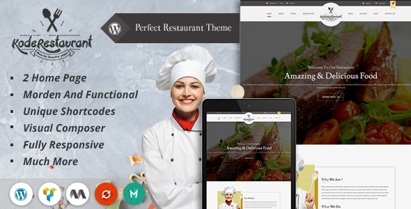 Food Court Restaurant WordPress Theme - Restaurants & Cafes Entertainment