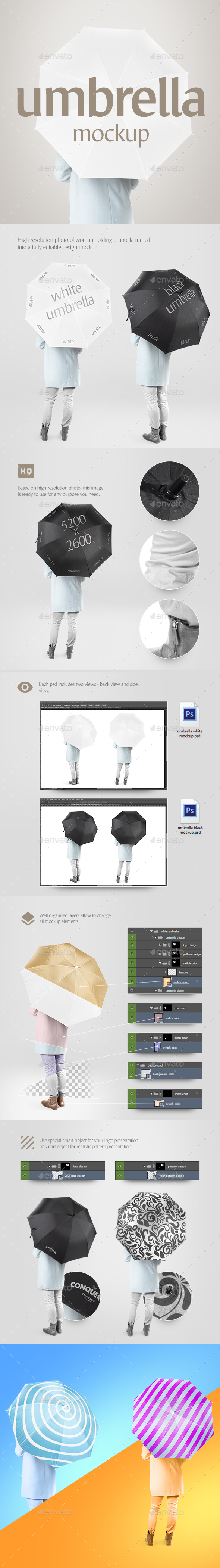 Umbrella Mockup - Miscellaneous Print