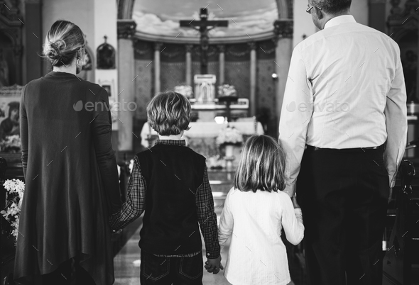 Church People Believe Faith Religious Family - Stock Photo - Images