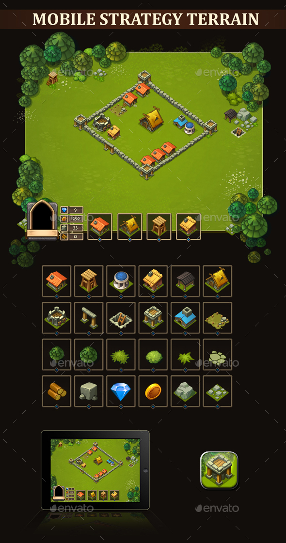 Mobile Strategy Terrain - Miscellaneous Game Assets