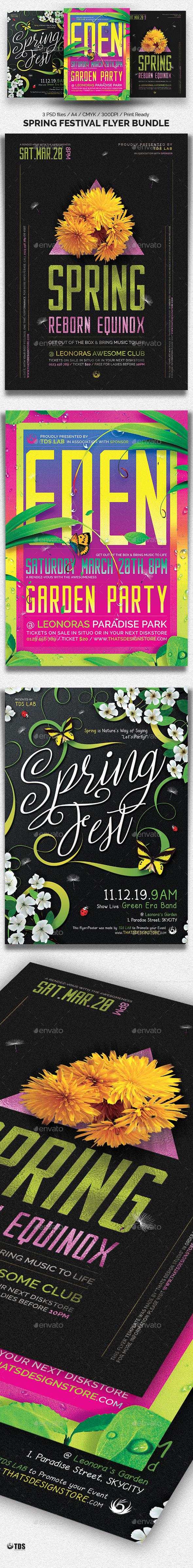 Spring Festival Flyer Bundle - Clubs & Parties Events