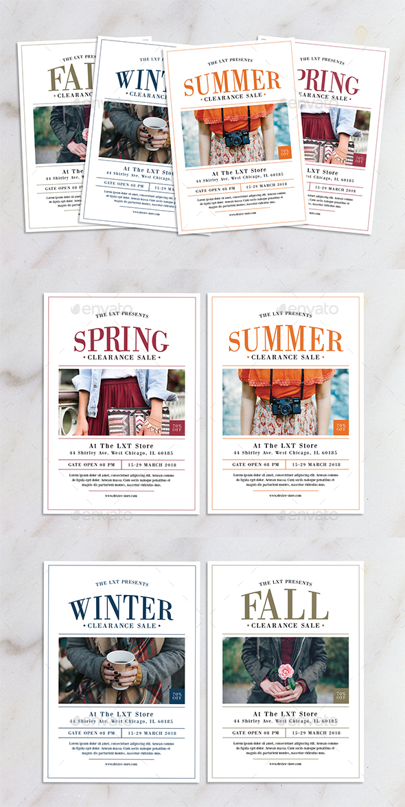 All Season Fashion Sale Flyer - Flyers Print Templates