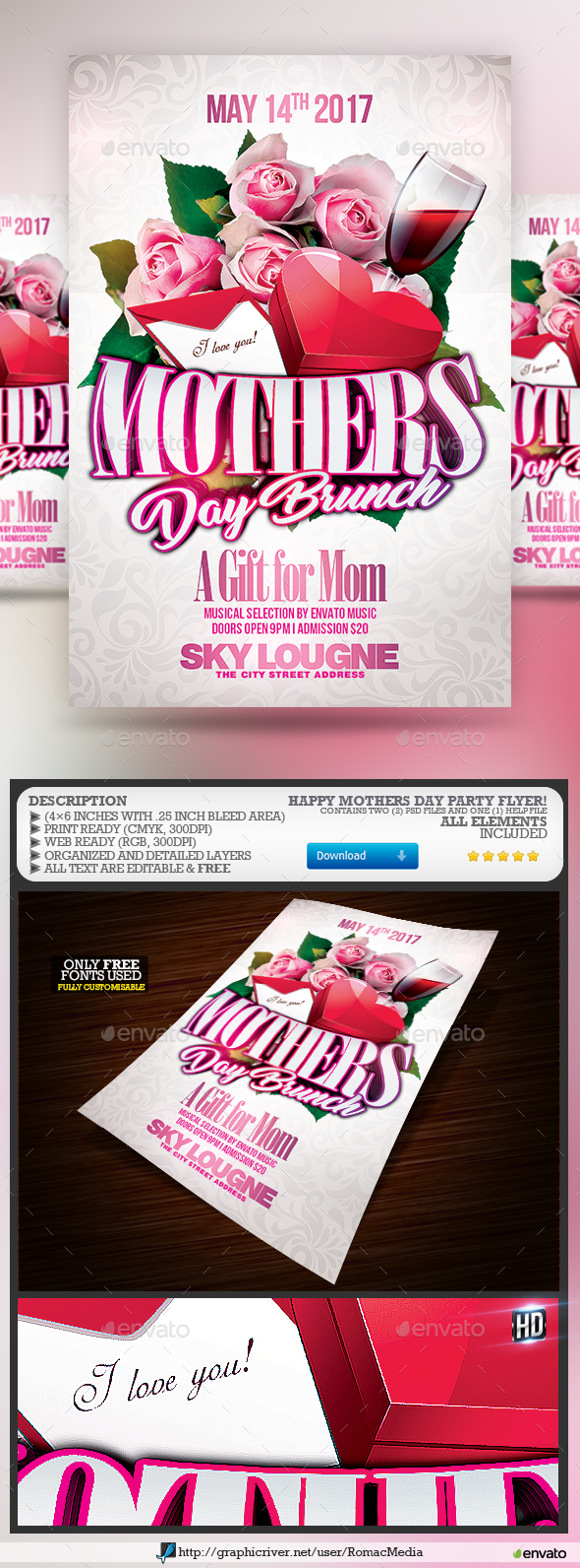 Happy Mother's Day Party Flyer - Clubs & Parties Events