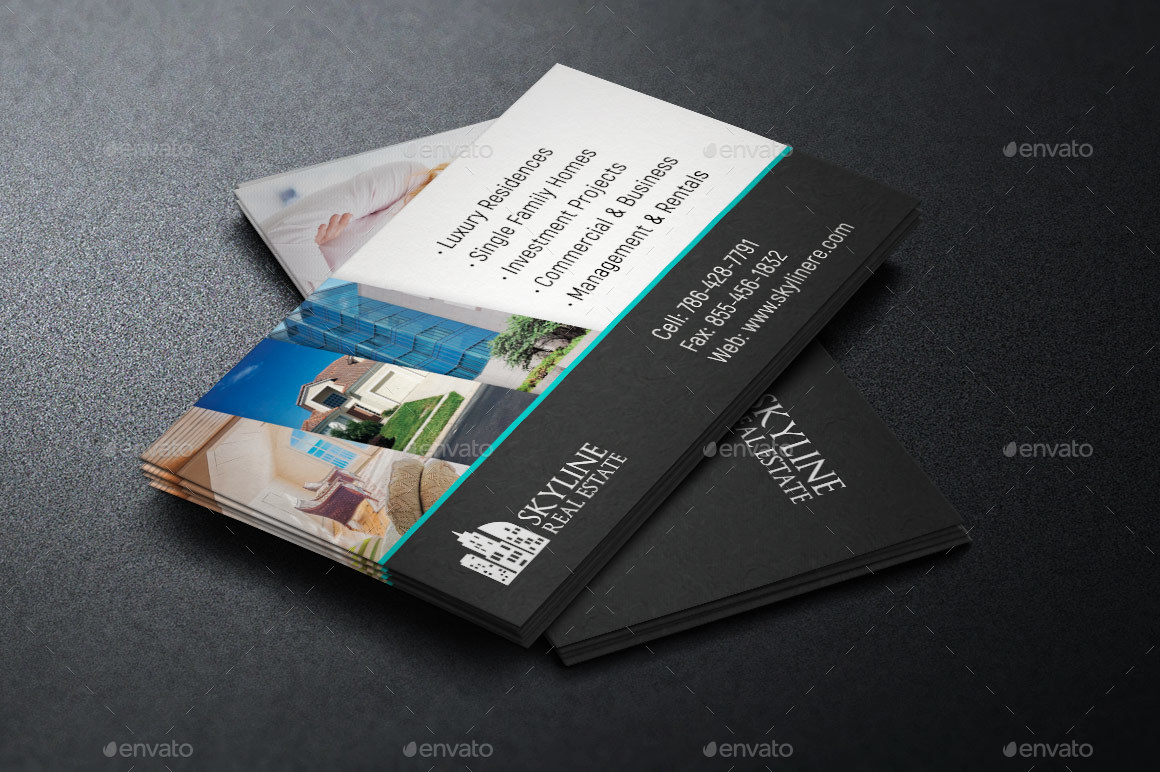 Real estate business card template by godserv2 graphicriver image setrealtor business card template preview 2g flashek Image collections