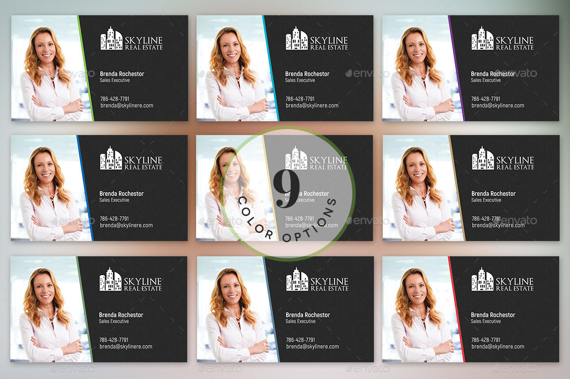Real estate business card template by godserv2 graphicriver image setrealtor business card template preview 5g alramifo Gallery