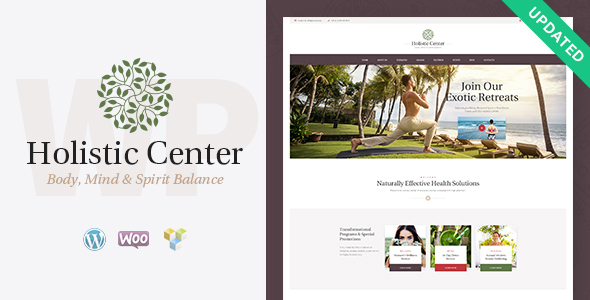 Holistic Center / Wellness and Spa Theme