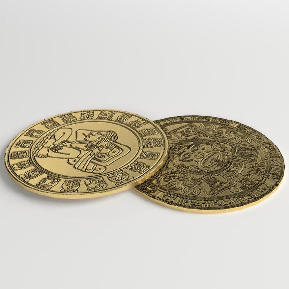 Pre Columbian Gold Coins - 3DOcean Item for Sale