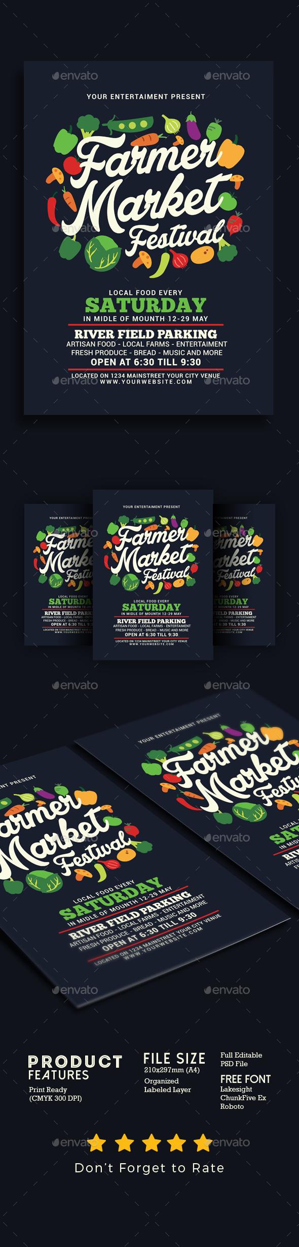 Farmer Market Festival - Flyers Print Templates