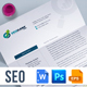 Letterhead Design Template for SEO (Search Engine Optimization) & Digital Marketing Agency / Company