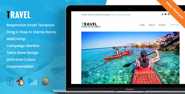 Image of Travel - Responsive Tour & Travel Email Template