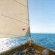 Look at the Front of the Sail Boat on the Sea