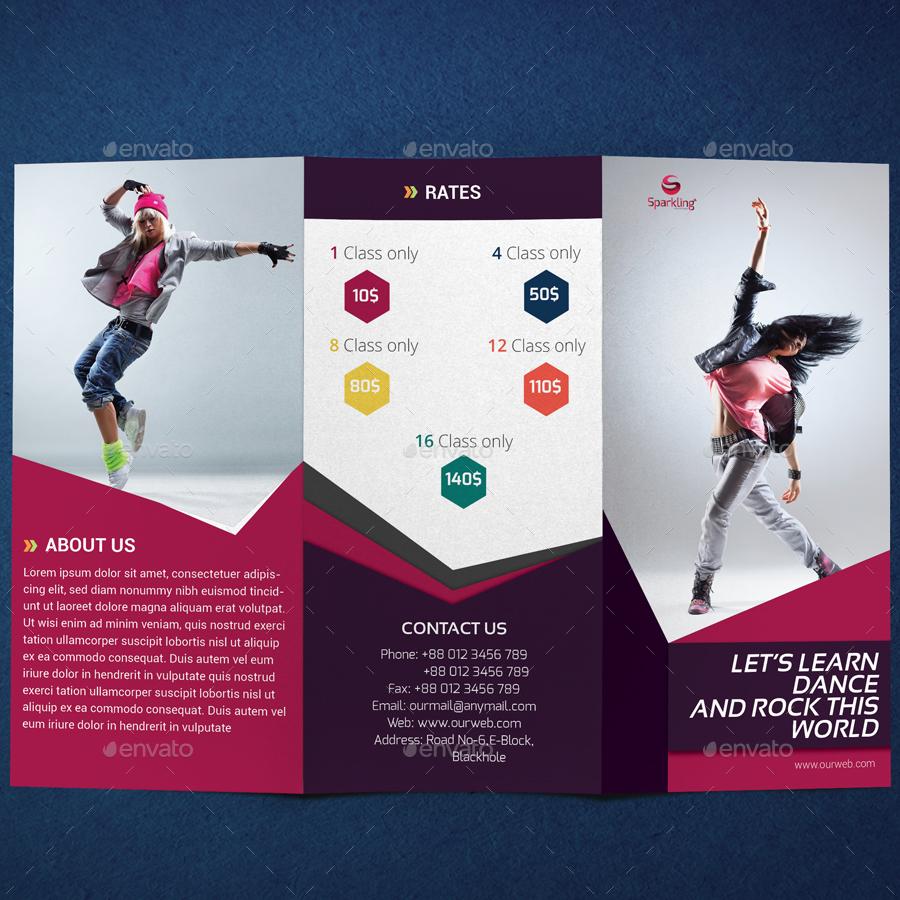 Trifold Dance Studio Brochure by SparklingDesignStudio – Studio Brochure