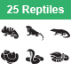 Reptiles & Amphibians Vector Icons - GraphicRiver Item for Sale