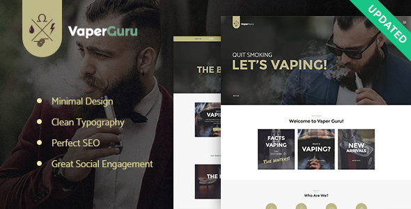 VaperGuru - Vapers Community & Vape Store WordPress Theme - Business Corporate