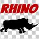 Rhino Silhouette Run Animation - VideoHive Item for Sale