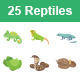Reptiles & Amphibians Color Vector Icons - GraphicRiver Item for Sale