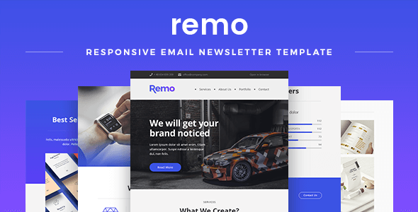 Remo – Responsive Email Newsletter Template