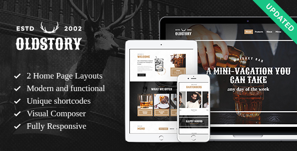 OldStory - Whisky Bar | Pub | Restaurant WordPress Theme - Restaurants & Cafes Entertainment