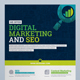 Flyer / Poster Template for SEO (Search Engine Optimization) & Digital Marketing Agency / Company