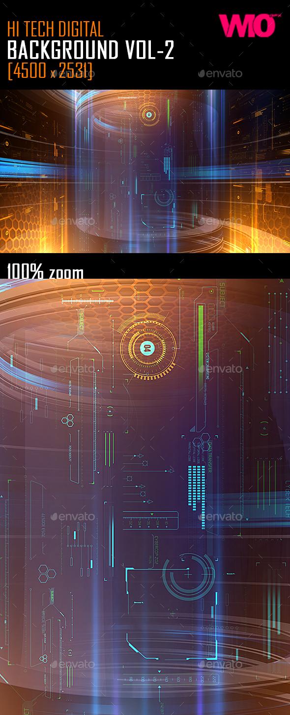 Hi Tech Digital Background Vol2 - Backgrounds Graphics