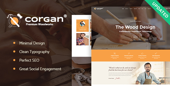 Corgan | Woodworks and Carpentry Theme - Business Corporate
