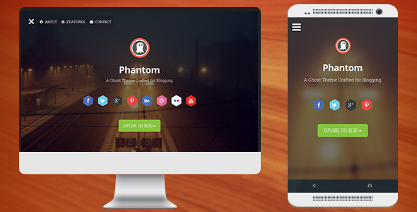 Phantom - Responsive Parallax Theme for Ghost - Ghost Themes Blogging