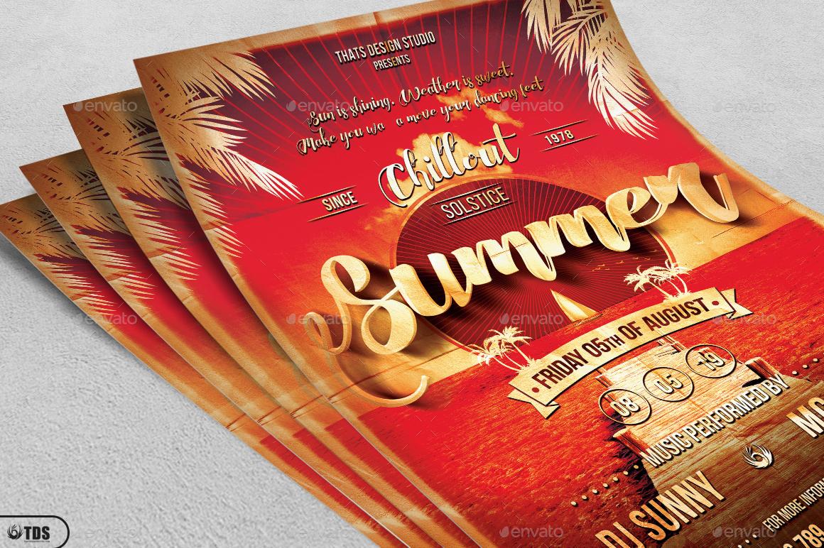 01_Summer Lounge Flyer Template V1 02_Summer Lounge Flyer Template  V1 ...
