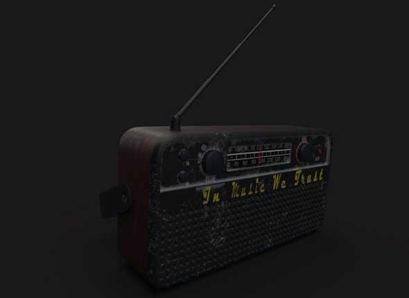 Old radio - 3DOcean Item for Sale