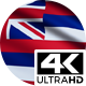 Flag 4K Hawaii On Realistic Looping Animation With Highly Detailed Fabric - VideoHive Item for Sale