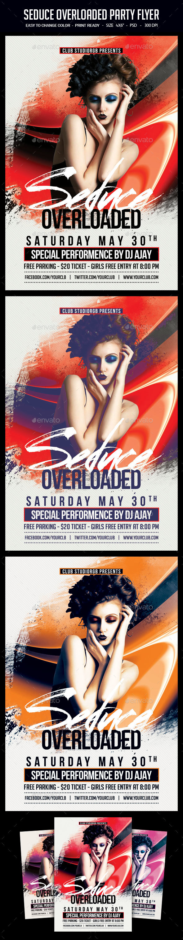 Seduce Overloaded Party Flyer - Clubs & Parties Events