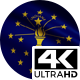 Flag 4K Indiana On Realistic Looping Animation With Highly Detailed Fabric - VideoHive Item for Sale