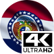 Flag 4K Missouri On Realistic Looping Animation With Highly Detailed Fabric - VideoHive Item for Sale