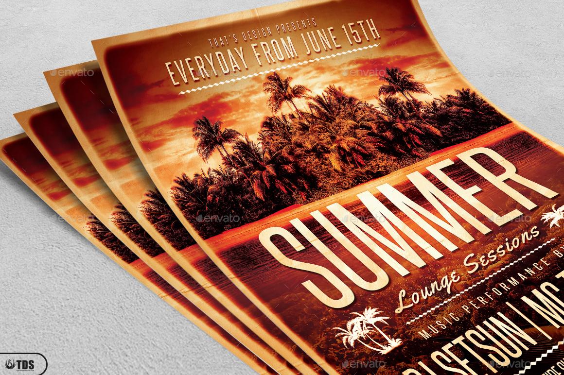 Wonderful 01_Summer Lounge Flyer Template V2 02_Summer Lounge Flyer Template  V2 ... Images