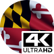 Flag 4K Maryland On Realistic Looping Animation With Highly Detailed Fabric - VideoHive Item for Sale