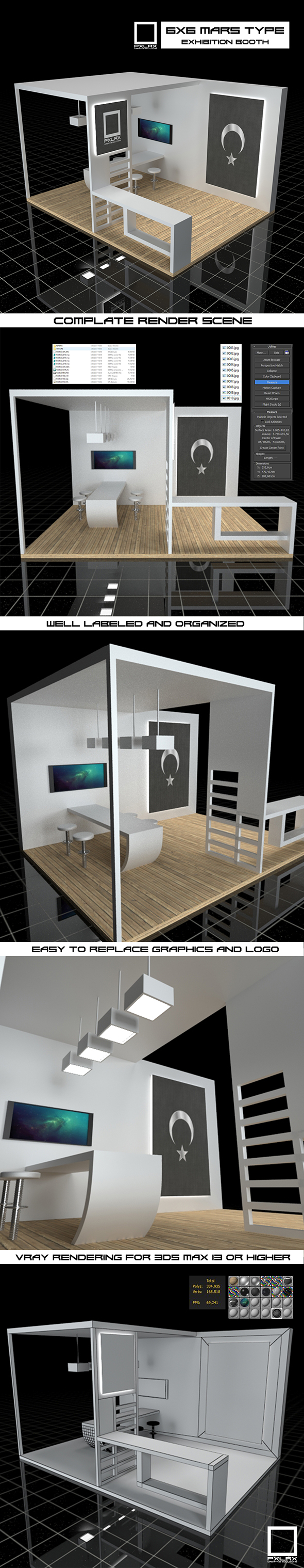 Exhibition Booth Vray Scene - 3DOcean Item for Sale