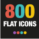 800 Flat icons - GraphicRiver Item for Sale