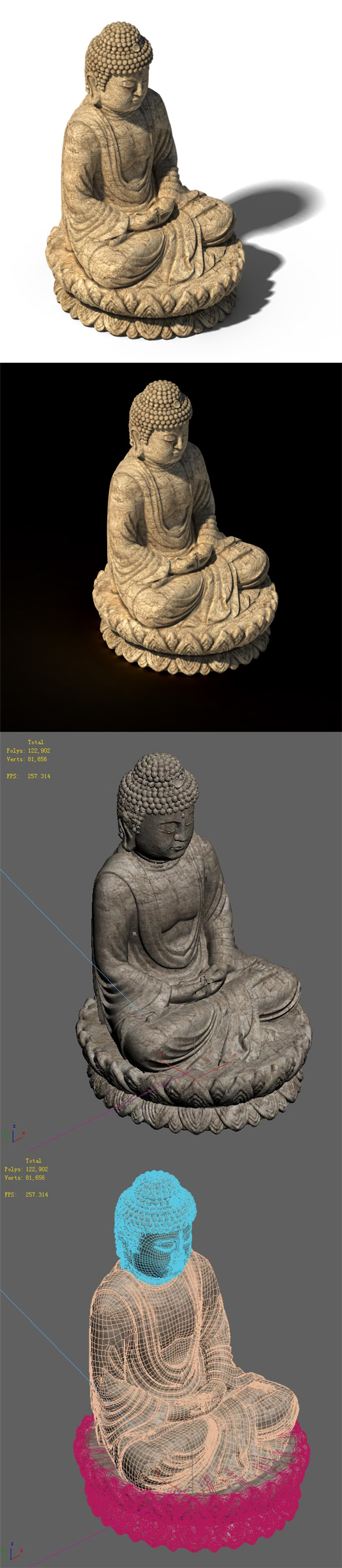 White Chishan Buddha 02 - 3DOcean Item for Sale