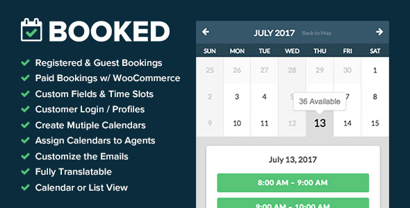 Booked - Appointment Booking for WordPress - CodeCanyon Item for Sale