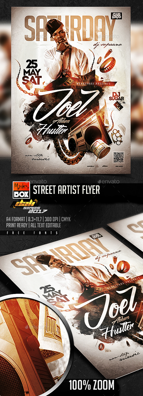 Street Artist Flyer - Clubs & Parties Events