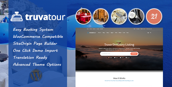 TruvaTour – Travel, Tour WordPress Theme