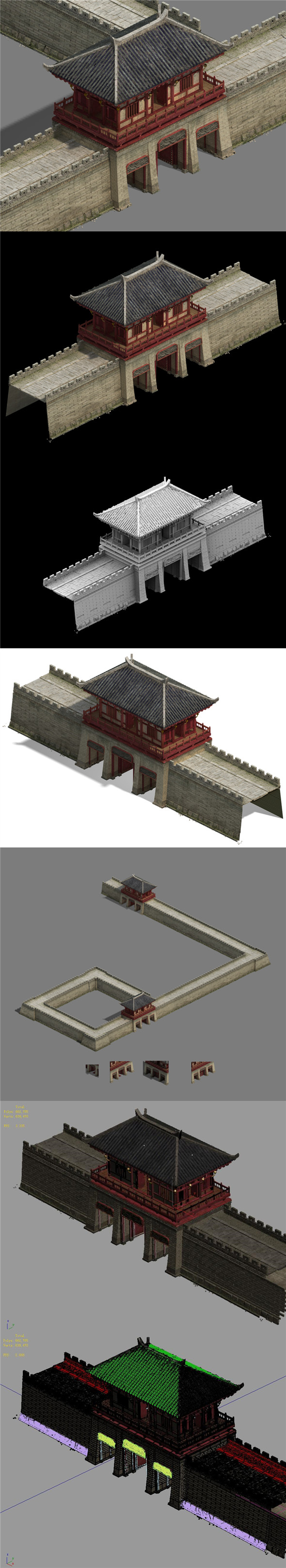City Gate - City Wall - City Cape 01 - 3DOcean Item for Sale